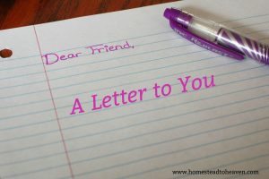 A Letter To You, Dear Friends