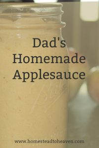 Dad's Homemade Applesauce