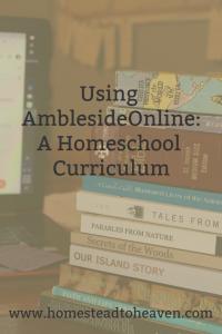 Using the AmblesideOnline Homeschool Curriculum