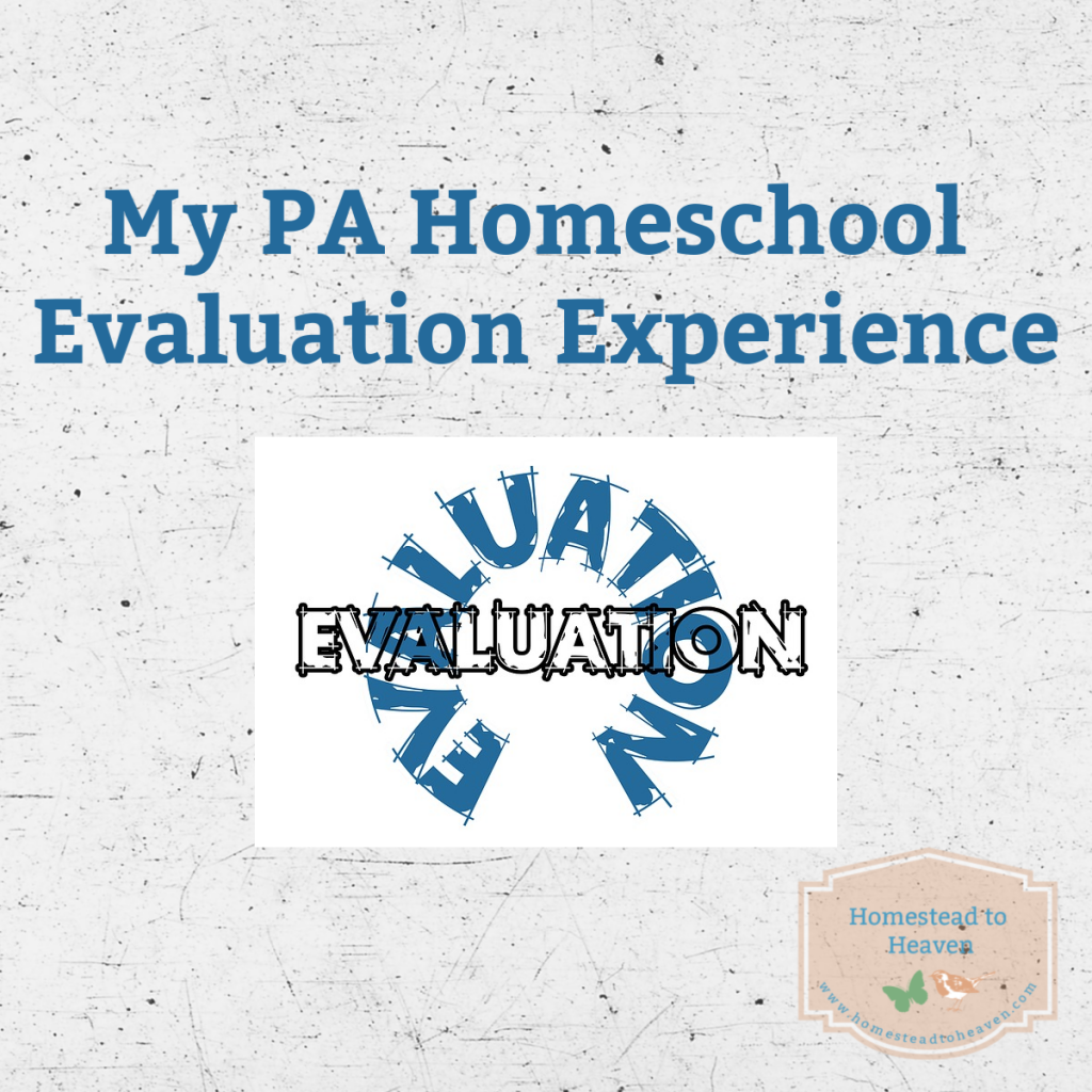 PA Homeschool Evaluation